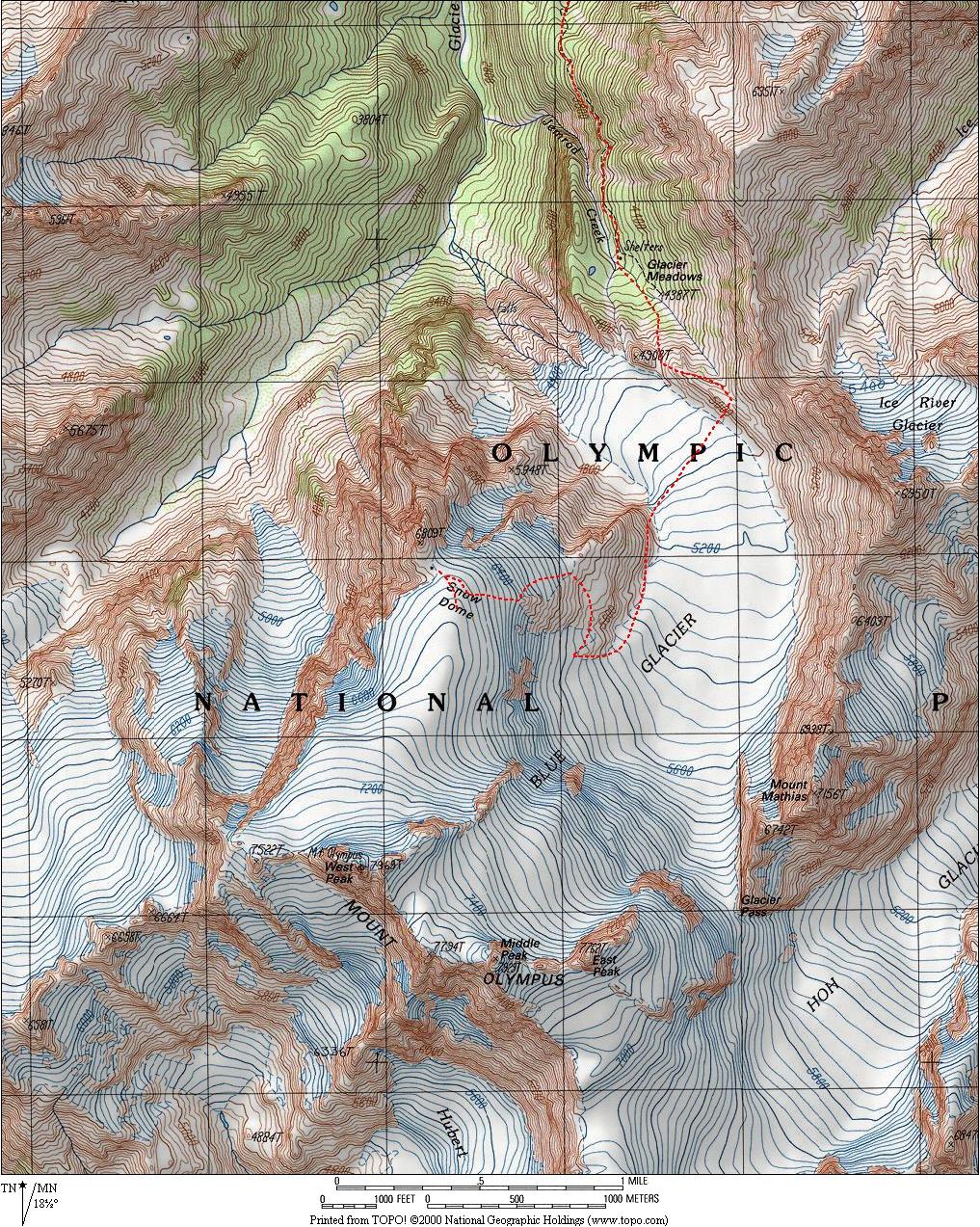 Mt Olympus - Olympus map